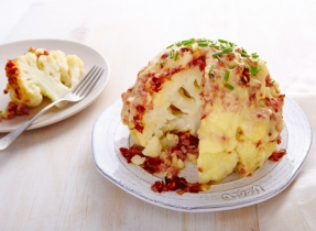 Ham & cheese cauliflower