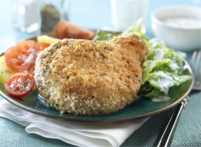 Parmesan Pork Chops with Ranch Tossed Romaine