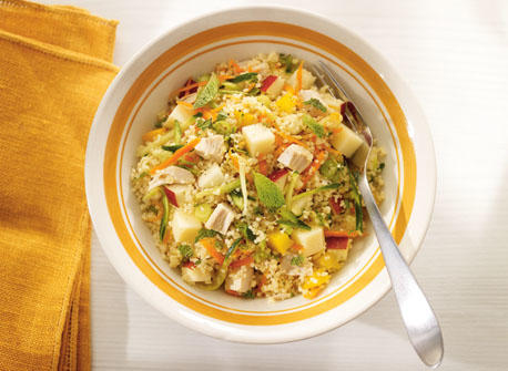 Chicken, vegetable and Gouda couscous Recipe