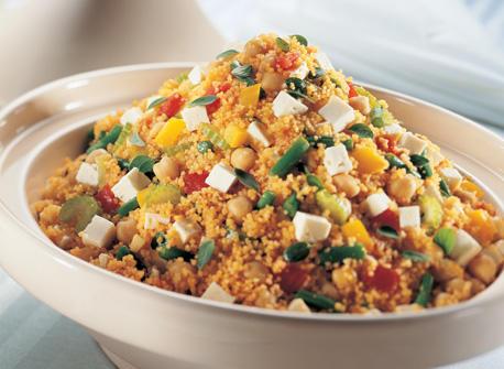 Vegetarian Couscous with Feta  Recipe