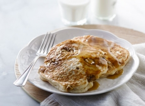 Maple Nut Pancakes with Hot Buttery Maple Syrup