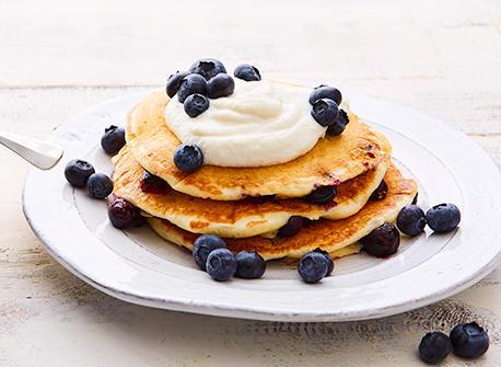 Blueberry kefir pancakes Recipe