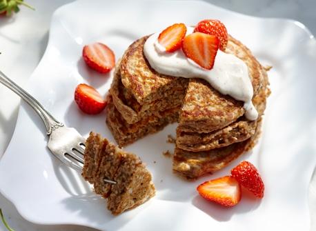 Lemon Pancakes With Yogurt + Berries Recipes — Dishmaps