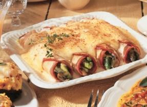 Alpine Ham, Cheese & Asparagus Crepes