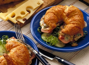 Ham 'n' Swiss Croissants