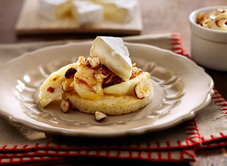 Homemade Crumpets, Apples and Camembert Recipe