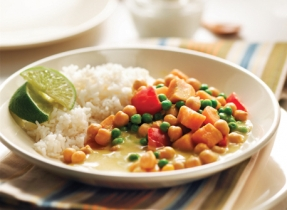 Vegetarian Sweet Potato and Chickpea Curry
