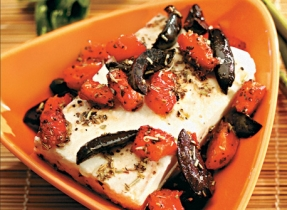 Roasted Feta and Red Peppers