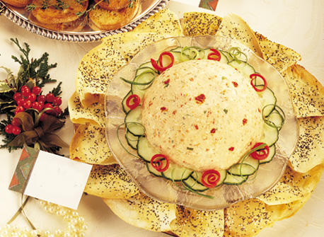 Moulded Feta and Sun-Dried Tomatoes with Crisp Cracker Bread recipe ...
