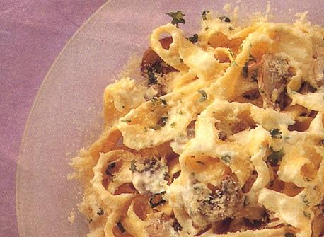Fettuccine Alfredo with Mushrooms Recipe
