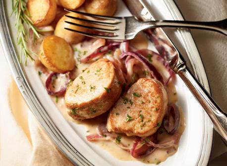 Pork Tenderloin with Red Onion Compote Recipe