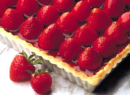Fresh Strawberry Flan Recipe