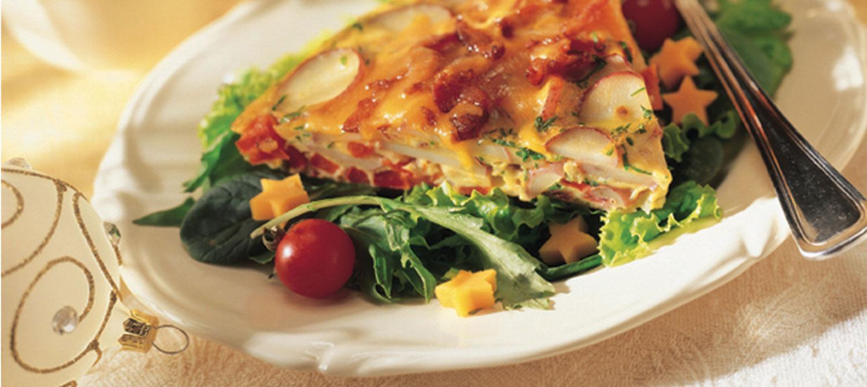 Cheddar, Bacon & Potato Frittata recipe | Dairy Goodness