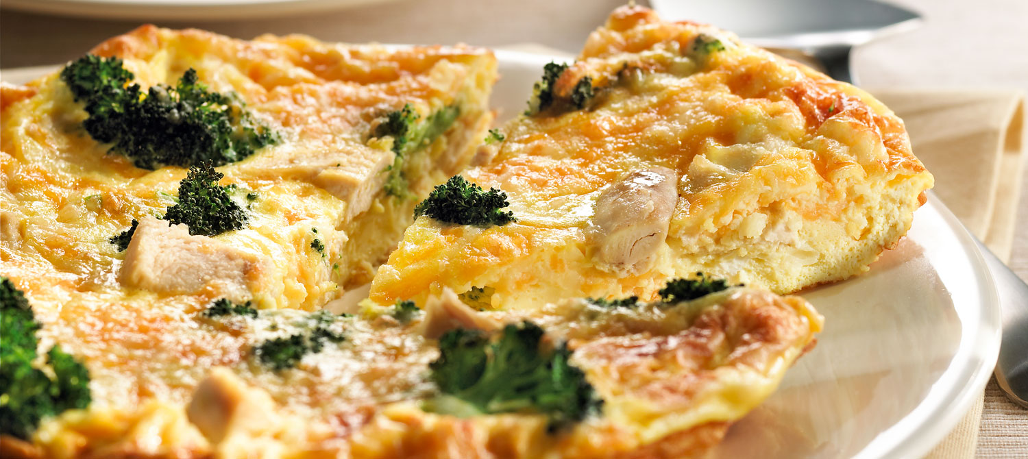 Chicken, Broccoli and Cheddar Frittata recipe | Dairy Goodness