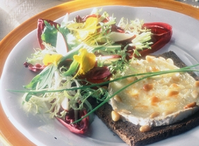 Cream Cheese on Rye with Nutty Salad