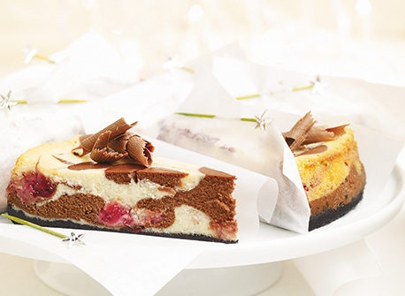 Double Chocolate Cranberry Cheesecake (Cooking Club Size) Recipe
