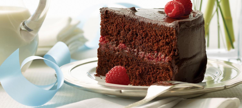 Chocolate Raspberry Celebration Cake recipe   Dairy Goodness