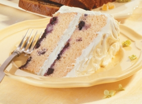 Blueberry Layer Cake with Lemon Frosting
