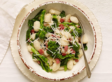 Gnocchi with Asiago, Rapini and Pancetta Recipe
