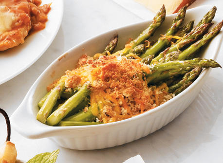 Lemon Roasted Asparagus Gratin Recipe