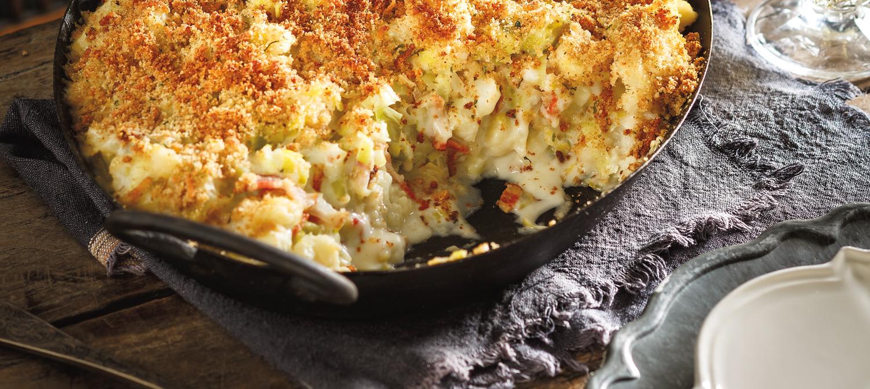 Cauliflower, Leek and Bacon Gratin recipe | Dairy Goodness