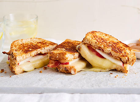 Cinnamon apple butter grilled cheese Recipe