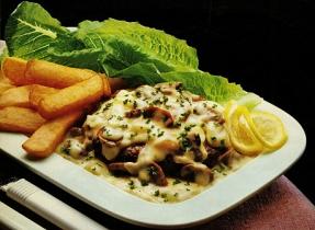 Veal Burgers with Mushroom Sauce