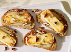 Pear, Pecan and Queso Fresco Appetizers