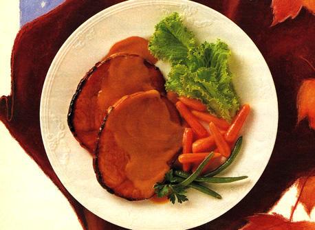 Maple Glazed Ham with Mustard Sauce Recipe