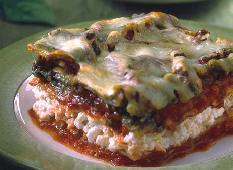 Ricotta Lasagna with Sun-dried Tomato Pesto Sauce Recipe