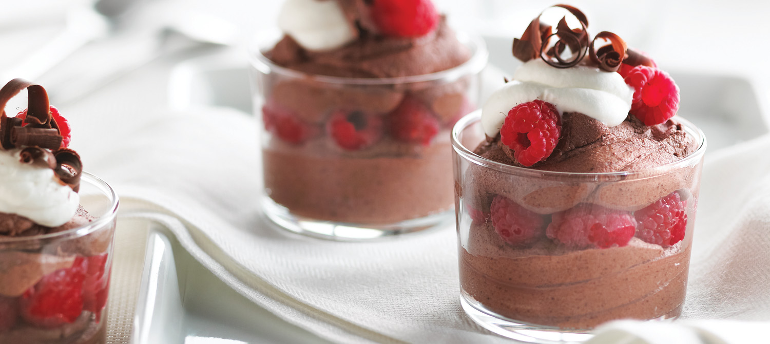 Chocolate Mousse with Raspberries recipe | Dairy Goodness