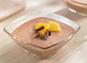 Orange Chocolate Yogurt Mousse