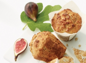 Honey, Fig & Yogurt Muffins with Walnuts