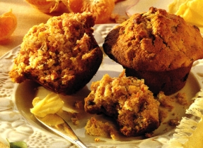 Oat Bran Carrot and Orange Muffins