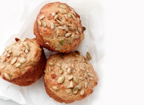 Three Seed Yogurt Muffins