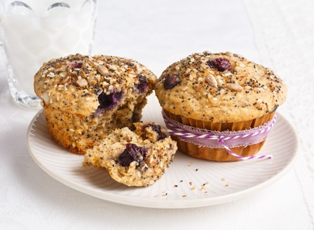 Blueberry Multi-Seed Muffins Recipe