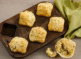 Zucchini and Cheese Muffins