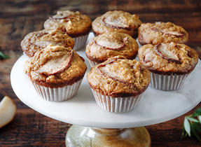 5-Spice Gingerbread Pear Muffins