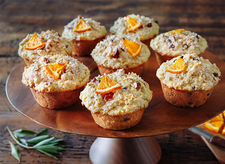 Rise and Shine Orange & Oatmeal Muffins Recipe