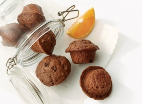 Dark Chocolate Orange Mini Muffins
