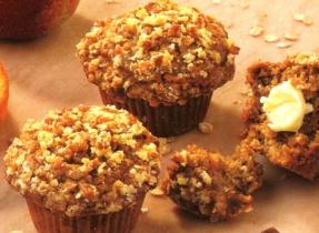 Apple Streusel Oatmeal Muffins