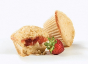 Sweet Cornmeal Surprise Muffins