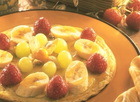 Fruity Omelet with Maple Yogurt