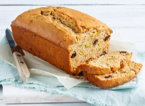 Orange, Pistachio and Dried-Cherry Tea Loaf