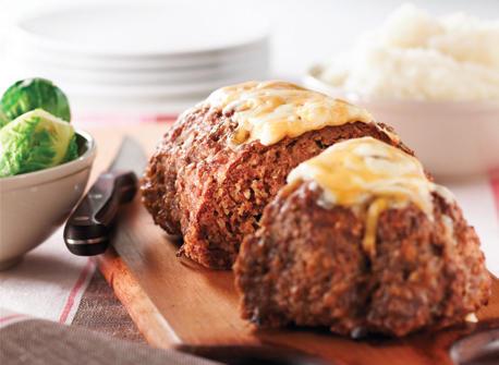 Cheddar-Topped Slow Cooker Meatloaf Recipe