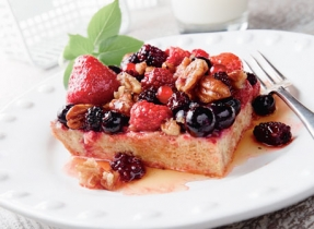 Baked Nutty Berry French Toast