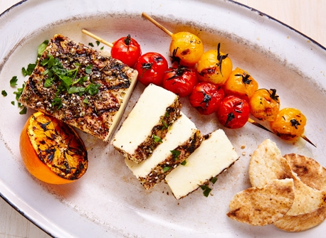 Grilled spiced Paneer Recipe