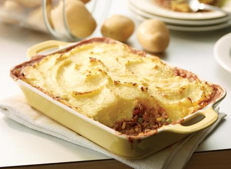 Cheesy Potato-Topped Beef & Vegetable Shepherd's Pie Recipe