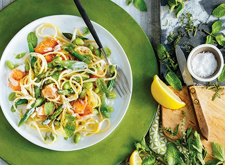 Smoked Salmon Pasta Primavera  Recipe