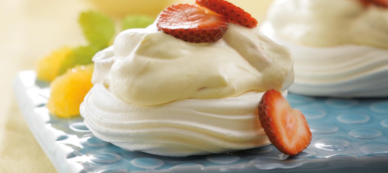 Strawberry Orange Pavlova recipe | Dairy Goodness